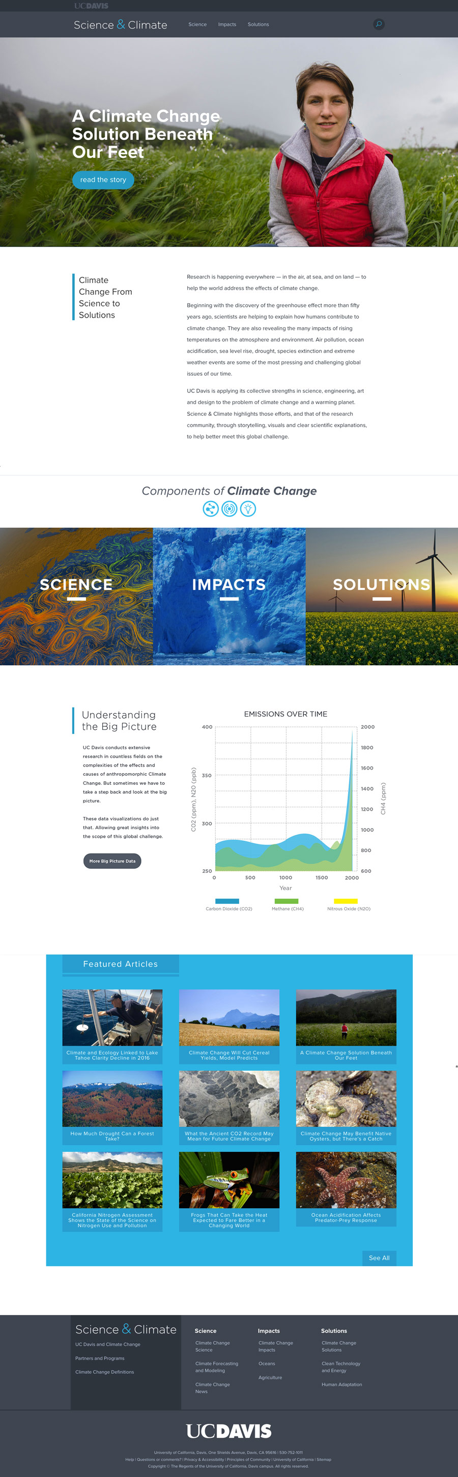 UC Davis Science and Climate homepage